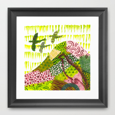 Fields of Pattern Framed Art