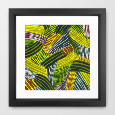 Stripy Fields Framed Art