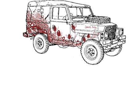 land rover red in product web